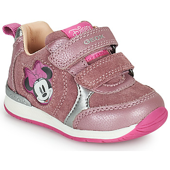 Shoes Girl Low top trainers Geox RISHO Pink