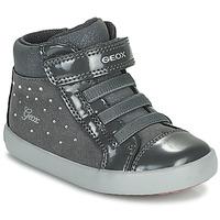 Shoes Girl High top trainers Geox GISLI Grey