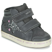 Shoes Girl High top trainers Geox KILWI Grey / Silver