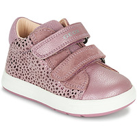 Shoes Girl Low top trainers Geox BIGLIA Pink