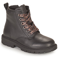 Shoes Girl Mid boots Geox SHAYLAX Black