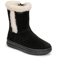 Shoes Girl Boots Geox REBECCA Black / White