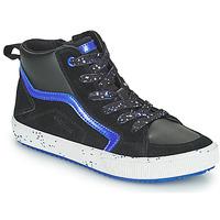 Shoes Boy High top trainers Geox ALONISSO Black / Marine