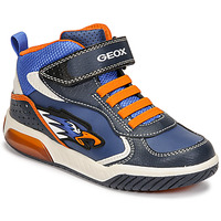 Shoes Boy High top trainers Geox INEK Blue / Orange