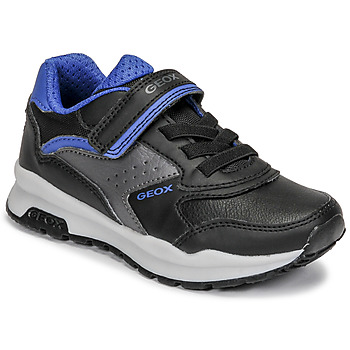 Shoes Boy Low top trainers Geox PAVEL Black / Blue