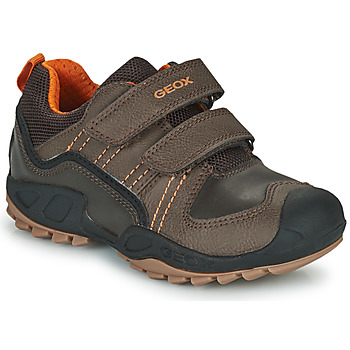 Shoes Boy Mid boots Geox SAVAGE Brown