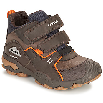 Shoes Boy Mid boots Geox BULLER ABX Brown
