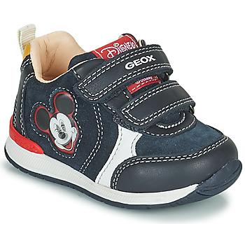 Shoes Boy Low top trainers Geox RISHO Marine