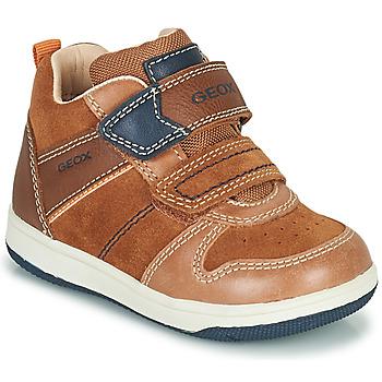 Shoes Boy High top trainers Geox NEW FLICK Marron