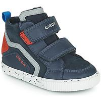 Shoes Boy High top trainers Geox KILWI Marine
