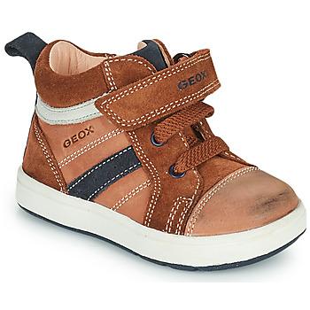 Shoes Boy High top trainers Geox BIGLIA Brown