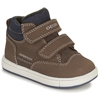 Shoes Boy High top trainers Geox TROTTOLA WPF Marron