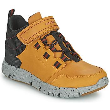 Shoes Boy Mid boots Geox FLEXYPER ABX Marron