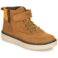 Shoes Boy Mid boots Geox RIDDOCK WPF Camel