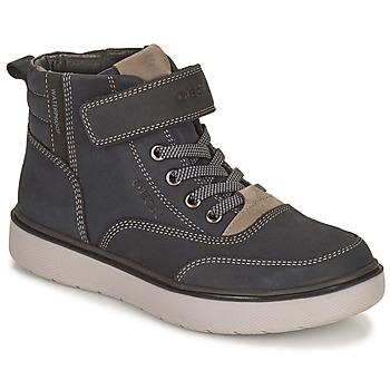 Shoes Boy Mid boots Geox RIDDOCK WPF Marine