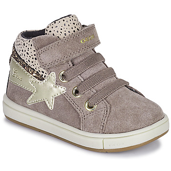 Shoes Girl High top trainers Geox TROTTOLA Beige