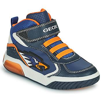 Shoes Boy High top trainers Geox INEK Marine / Orange