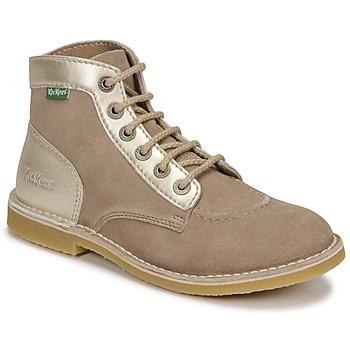 Shoes Women Mid boots Kickers ORILEGEND Beige