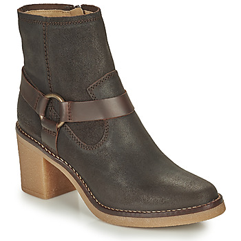 Shoes Women Boots Kickers AVECOOL Brown