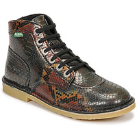 Shoes Women Mid boots Kickers ORILEGEND Black / Brown / Red