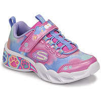 Shoes Girl Low top trainers Skechers SAMY Pink / Led