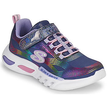 Shoes Girl Low top trainers Skechers GLOW-BRITES Marine / Led