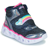 Shoes Girl High top trainers Skechers HEART LIGHTS Marine / Led