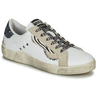 Shoes Women Low top trainers Meline NK139 White / Glitter / Blue
