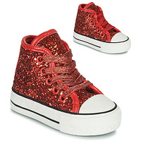 Shoes Girl High top trainers Citrouille et Compagnie OPIU Red
