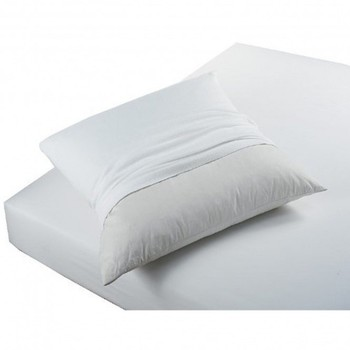 Home Pillowcase, bolster Today PROTÈGE OREILLERS ABSORBANT ANTI ACARIENS White