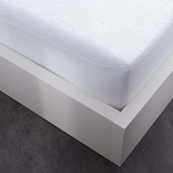Home Fitted sheet Today PROTÈGE MATELAS MOLLETON White