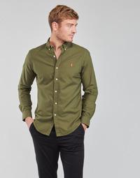 material Men long-sleeved shirts Polo Ralph Lauren DRISSY Kaki