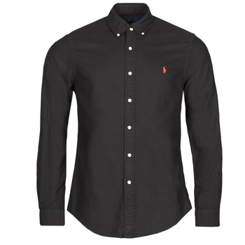 material Men long-sleeved shirts Polo Ralph Lauren CAMISETA Black
