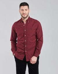 material Men long-sleeved shirts Polo Ralph Lauren KAOLMA Bordeaux