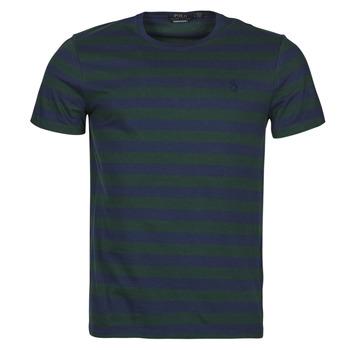material Men short-sleeved t-shirts Polo Ralph Lauren POLINE Marine / Green