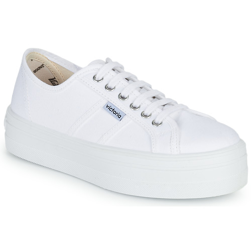 Shoes Women Low top trainers Victoria BLUCHER LONA PLATAFORMA White