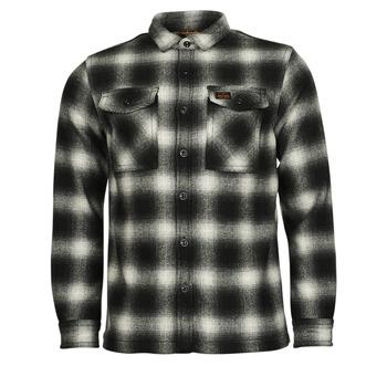 material Men Blouses Superdry Wool Miller Overshirt Black