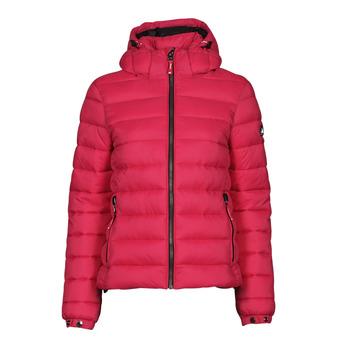 material Women Duffel coats Superdry CLASSIC FUJI PUFFER JACKET Pink