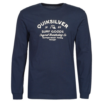 material Men Long sleeved shirts Quiksilver CLOSED CAPTION LS Blue / Marine