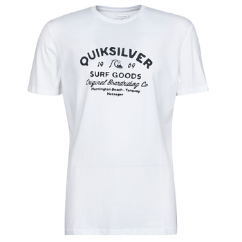 material Men short-sleeved t-shirts Quiksilver CLOSED CAPTION SS White