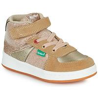 Shoes Girl High top trainers Kickers BILBON MID Beige