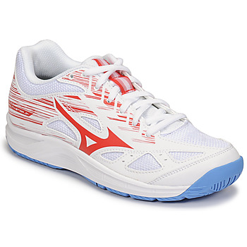 Shoes Children Indoor sports trainers Mizuno CYCLONE SPEED 2 JR White / Red / Blue