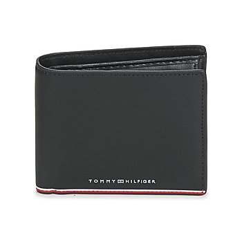 Bags Men Wallets Tommy Hilfiger TH COMMUTER EXTRA CC AND COIN Black