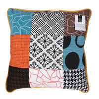 Home Cushions The home deco factory PATCHWORK White / Black / Orange / Turquoise / Brown