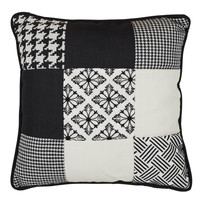 Home Cushions The home deco factory PATCHWORK Patchwork / White - black