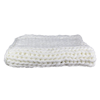 Home Blankets, throws The home deco factory CHUNKY Ecru