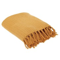 Home Blankets, throws The home deco factory GALICE Ocre tan