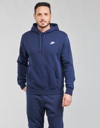 material Men sweaters Nike NIKE SPORTSWEAR CLUB FLEECE Marine / White