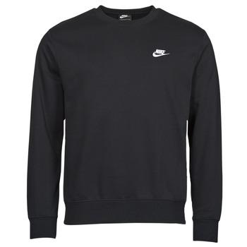 material Men sweaters Nike NIKE SPORTSWEAR CLUB FLEECE Black / White