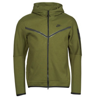 material Men Jackets Nike NIKE SPORTSWEAR TECH FLEECE Green / Black